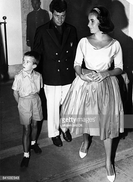 *Schauspielerin USA mit Mann Eddie und Sohn Michael Howard aus der Ehe mit Wilding