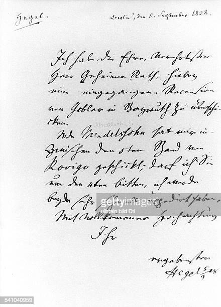 *2708177014111831Philosoph DBrief von Hegel mit Unterschrift vom05091828