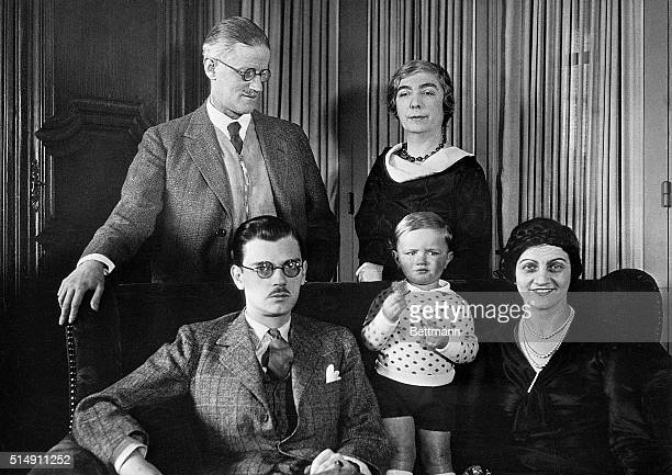 2/7/1934Paris France James Joyce celebrated author whose famous novel Ulysseswas only recently permitted to enter the United States after ten years...