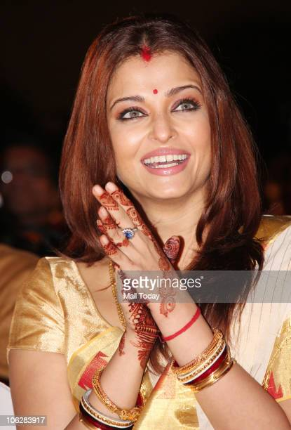 Aishwarya Rai Bachchan during the music launch of the film 'Khelein Hum Jee Jaan Sey' in Mumbai on October 27 2010