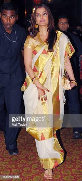 Aishwarya Rai Bachchan during the music launch of the film 'Khelein Hum Jee Jaan Sey' in Mumbai on October 27 2010