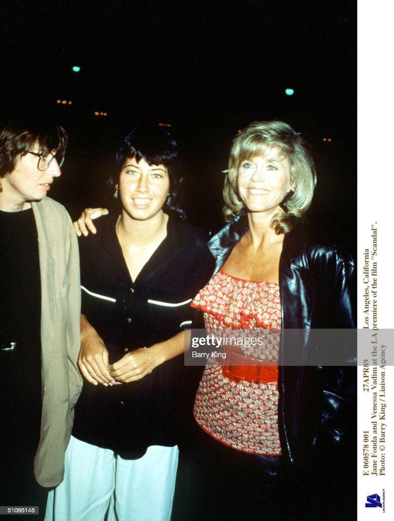 Jane Fonda And Vanessa Vadim At The La Premiere Of The : News Photo