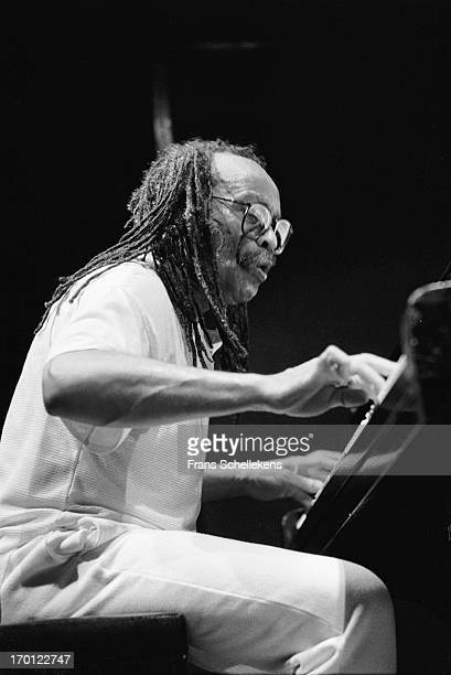 27th: American pianist Cecil Taylor performs at the BIM Huis in Amsterdam, Netherlands on 27th August 1988.