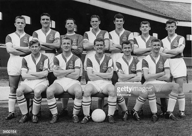 The players of Blackburn Rovers Football Club try out the new kit that they will wear in the FA Cup final against Wolverhampton Wanderers at Wembley...