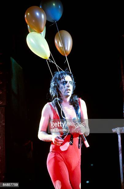American musician Alice Cooper performs live on stage during his 'Welcome to my Nightmare' tour at the Hartford Civic Centre in Hartford Connecticut...