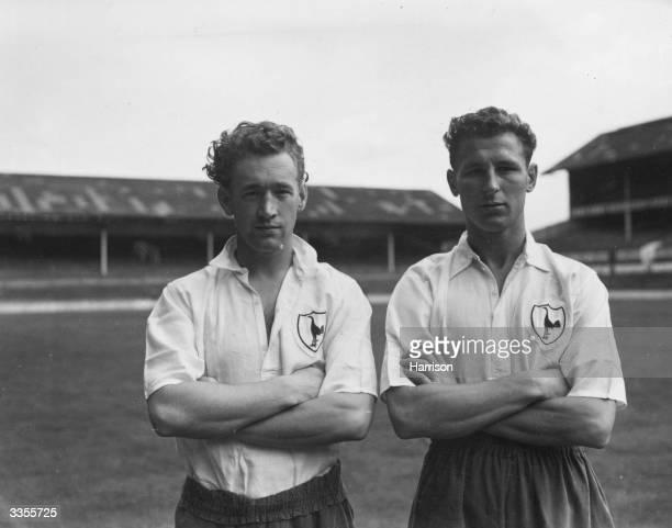 Tottenham Hotspur players J Wilmot and C Brittan