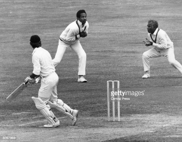 West Indian cricketer Gary Sobers catches out England's Luckhurst in the Third Test at Lord's.