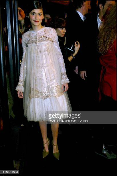 27th Cesar movie awards ceremony in Paris in Paris France on March 02 2002 Audrey Tautou