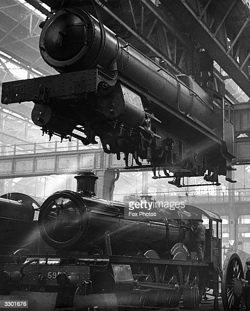 A man at work in the Great Western Railway works in Swindon