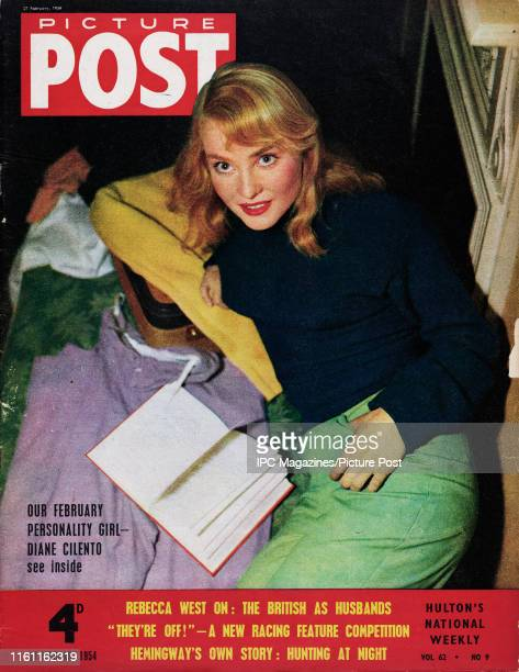 Australian actress Diane Cilento is featured for the cover of Picture Post magazine Original Publication Picture Post Cover Vol 62 No 09 pub 1954