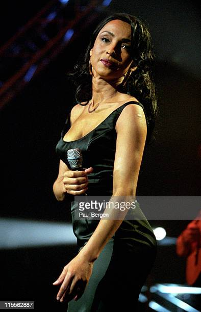 English singer Sade performs live on stage at Edisons Pop in Amsterdam Netherlands on 27th February 2001