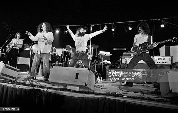 Frank Zappa performs live on stage with The Mothers of Invention in Rotterdam Netherlands on November 27th 1971 Mark Volman is 2nd from left and...