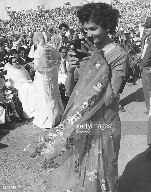 Crowds at the National Stadium near Karachi Pakistan for the installation of the Aga Khan as spiritual head of the Ismaili Muslims
