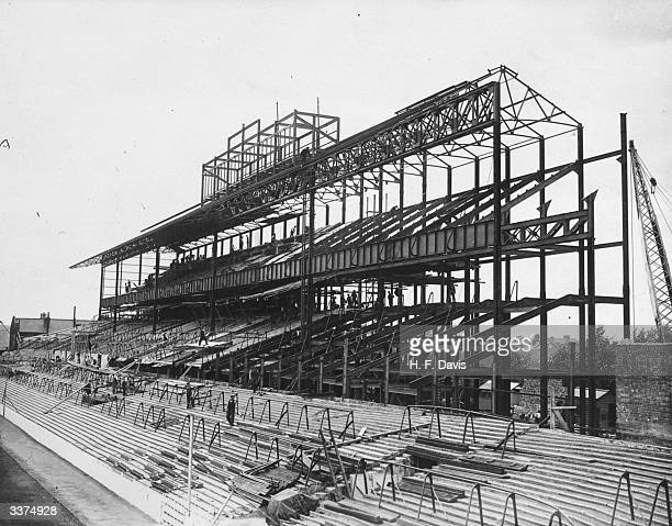 A new stand being constructed for Tottenham Hotspur FC