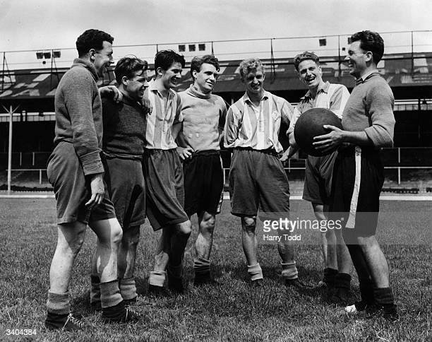 Newly arrived from Chelsea Brentford Football Club's new captain Sid Tickeridge enjoys a joke with his new team mates during preseason training From...