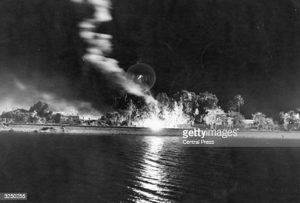 The Egyptian front ablaze following the Six Day War in the Middle East