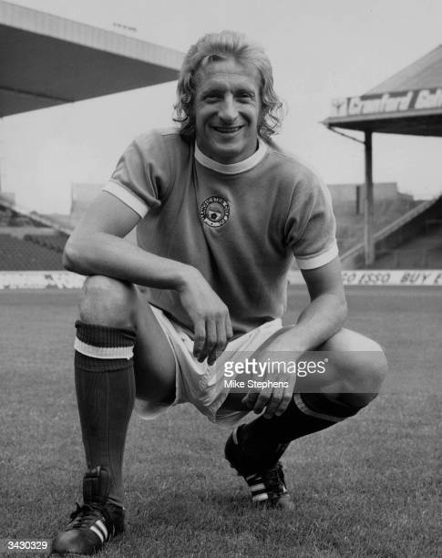 Scottish footballer Denis Law after his transfer from Manchester United to Manchester City