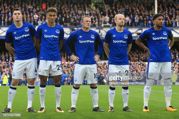 27th July 2017 UEFA Europa League 3rd Qualifying Round Everton v MFK Ruzomberok Everton players Michael Keane Dominic CalvertLewin Wayne Rooney Davy...