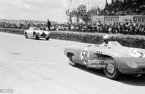 A French D B Panhard 745cc sports car competing in the 1953 Le Mans 24 Hour Race the oldest and most prestigious endurance race for sports cars held...