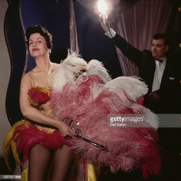 Showgirl Lee Vernon at the Pigalle Club nightclub in London Original Publication Picture Post 6556 Night Club CloseUp pub 1953