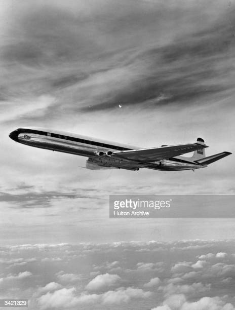 A De Havilland Comet 4B on a test flight at Hatfield This is one of six planes on order for British European Airways
