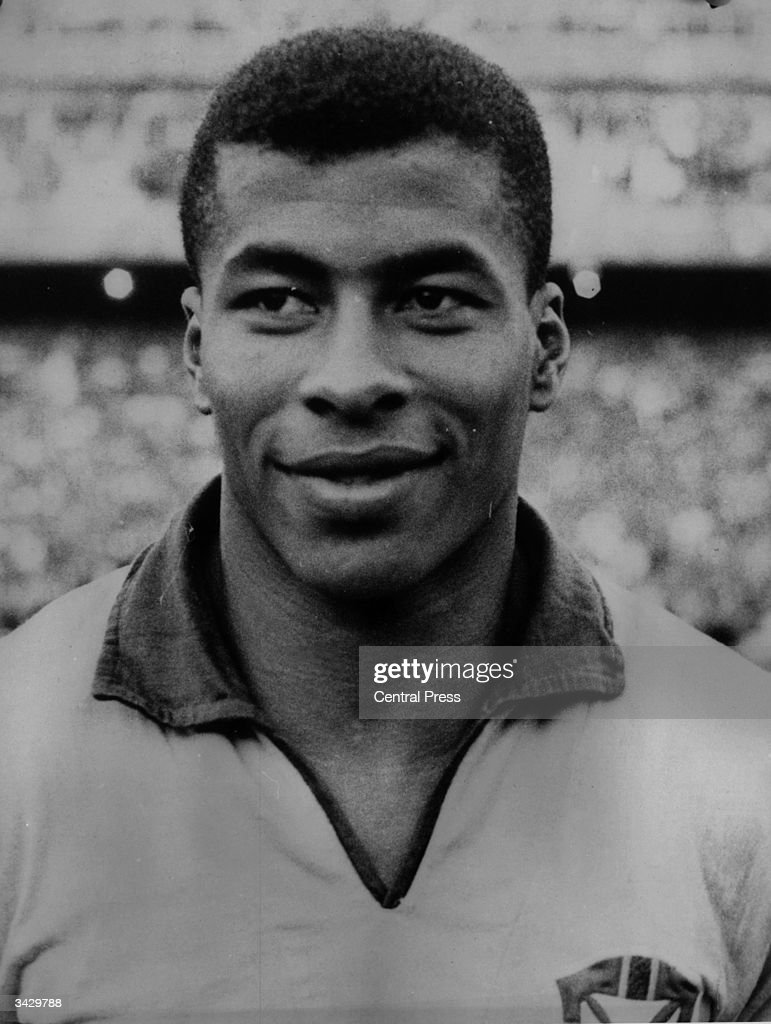 Brazilian footballer Jairzinho (Jair Ventura Filho), who scored in every round of the 1970 World Cup, which Brazil won.