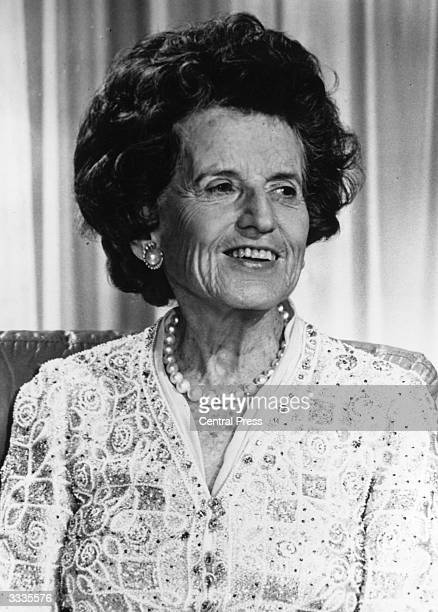 Rose Kennedy, the mother of the late American president, John F. Kennedy.