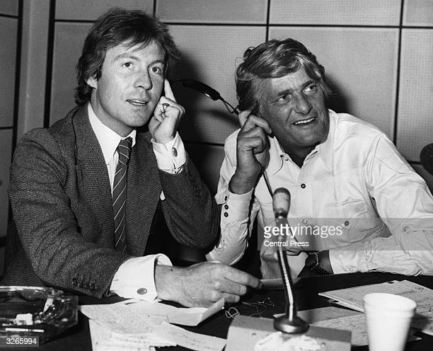 Roddy Llewellyn with the programme host Pete Murray during a BBC2 radio broadcast of 'Open House'