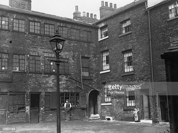 Slum dwellings in the Button Lane district of Sheffield which are shortly to be demolished