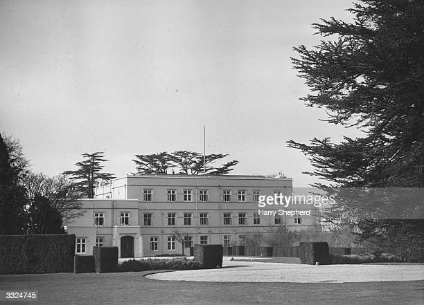The Royal Lodge in the Great Park at Windsor Bucks where King George VI retires to throw off the worries of State and live the life of a country...