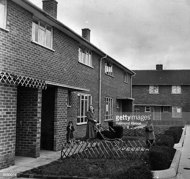 Postwar council houses on an estate in the new town of Hemel Hempstead Hertfordshire Original Publication Picture Post 7094 Best And Worst Of Britain...