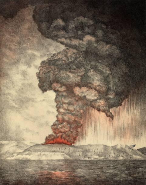 Krakatoa Erupts Wall Art