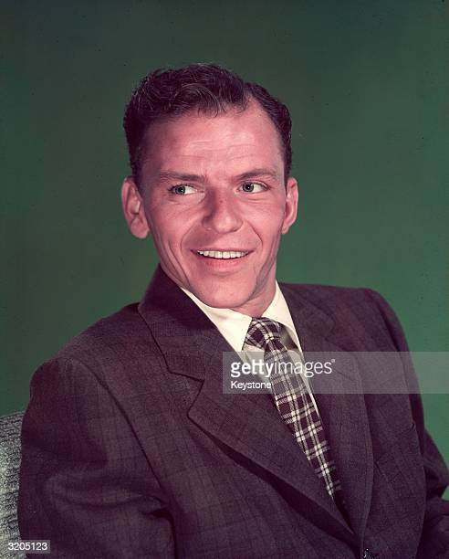 A formal portrait of American crooner and actor Frank Sinatra