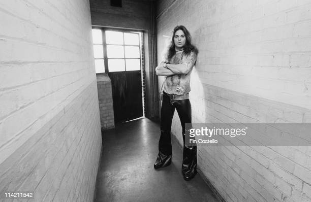 David Lee Roth from Van Halen posed backstage at Lewisham Odeon in London on 27th May 1978