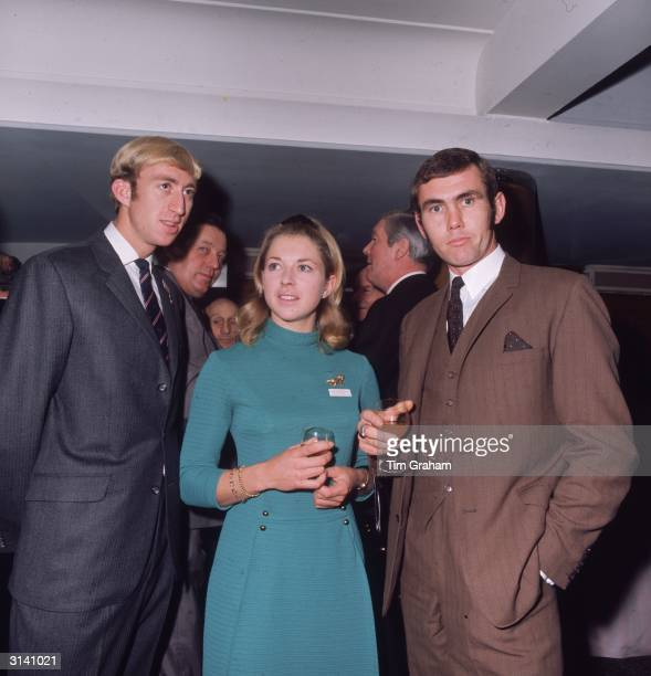 From left to right athlete David Hemery showjumper Marion Coakes and lightheavyweight boxer Chris Finnegan at the Sportsman of the Year Luncheon
