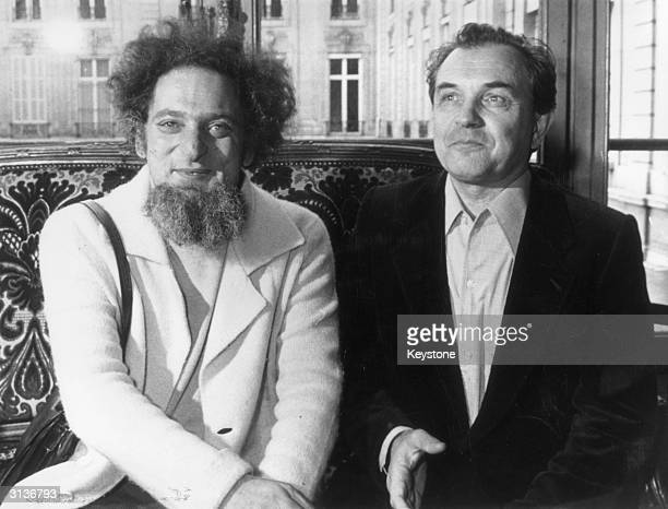 French novelist Georges Perec after being awarded the 1978 Prix Medici for his novel 'Life A User's Manual'