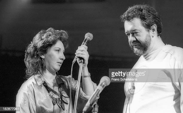 27th OCTOBER: Brazilian jazz singer Flora Purim and Airto Moreira perform live on stage at the Paradiso in Amsterdam, Netherlands on 27th October...