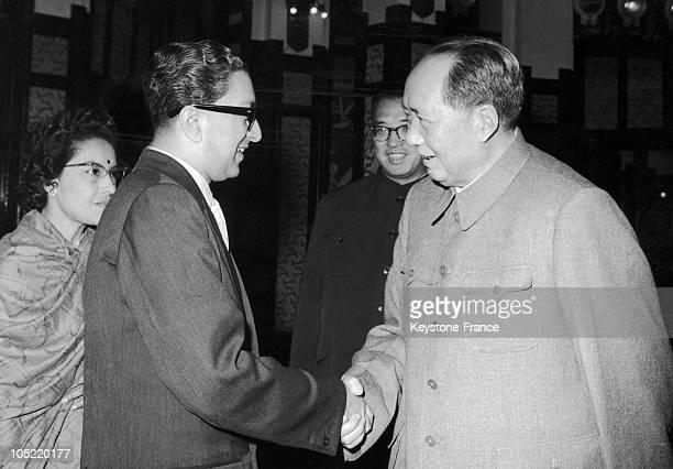 27Th Of September 1967 Peking Mao Tse Toung And King Mahendra Of Nepal