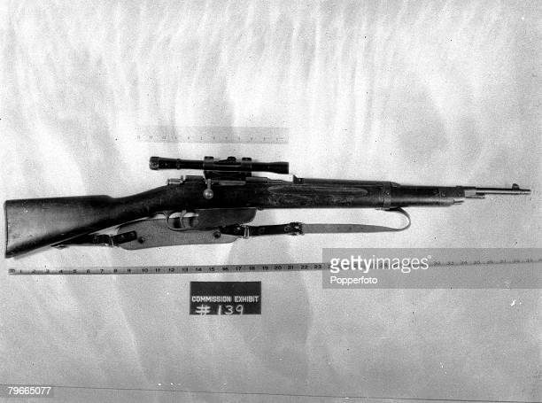 27th September 1964 Washington USA JFK Assassination The Rifle identified by the FBI as a 65 mm Model 91/38 MannlicherCarcano found on the 6th Floor...