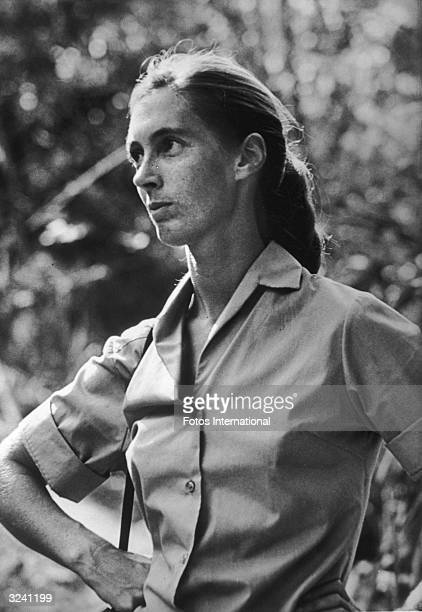 British anthropologist and primatologist Jane Goodall