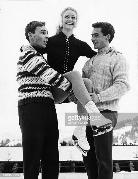 *Eiskunstläufer Dmit Alain Giletti und Marika Kilius Februar 1960