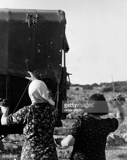 05061896 Offizier und Politiker IÜberführung des Leichnams des währendeines Informationsfluges von der eigenenLuftabwehr bei Tobruk...