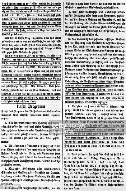 *28121856Politiker USAPräsident der USA 19131921Die 14 Punkte des amerikanischenPräsidenten vom 8 Januar 1918Vollständiger Text aus einem...