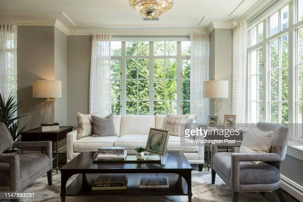 Living area in Unit 306 at The Signet on May 28 2019 in McLean Virginia