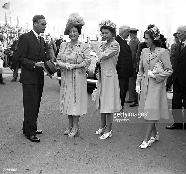 28th April 1947 King George VI Queen Elizabeth later the Queen Mother Princess Elizabeth later Queen Elizabeth II and Princess Margaret in Cape town...