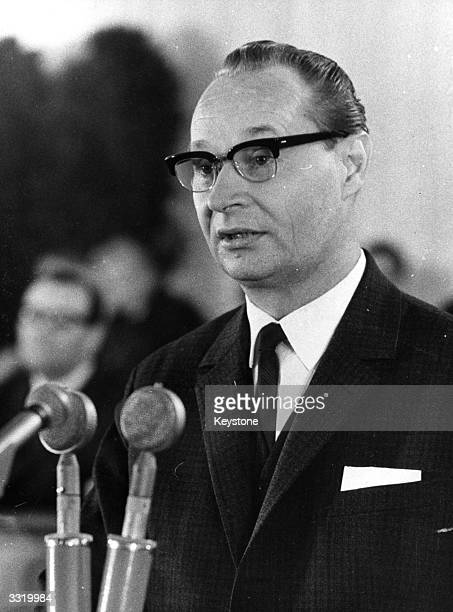 Alexander Dubcek Speaker of Czechoslovakia's Federal Assembly and member of Presidium of the Central Committee of the Communist Party of...