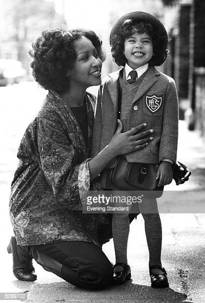 American funk soul diva Marsha Hunt with her daughter