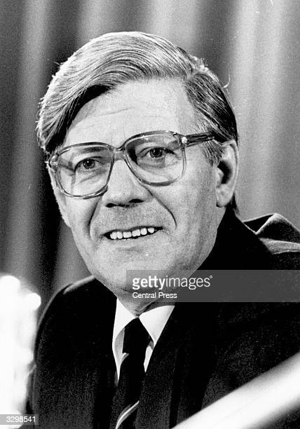 West German Chancellor of the Federal Republic of Germany Helmut Schmidt
