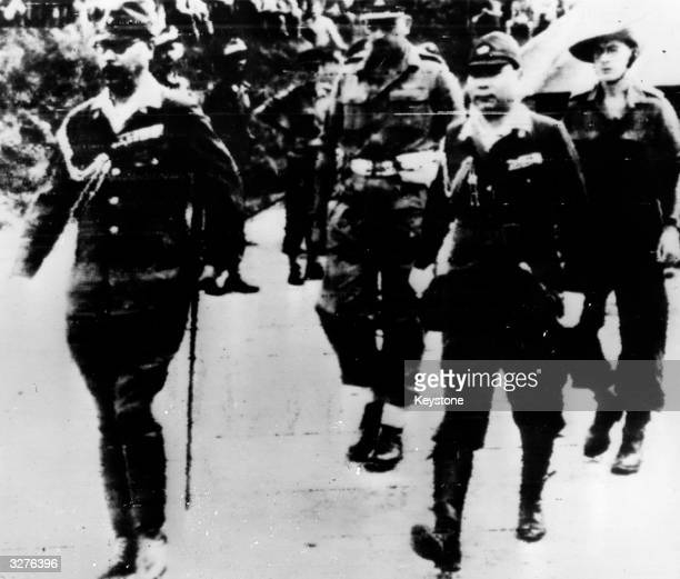 Military Commanders of the Japanese forces arrive in Rangoon to negotiate the surrender of Japanese forces in South-East Asia. The formal surrender...