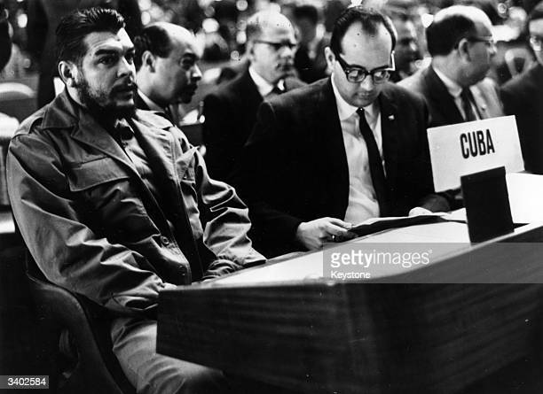 Argentine Communist revolutionary leader Che Guevara attending a United Nations Trade Conference at the Palace des Nations Geneva